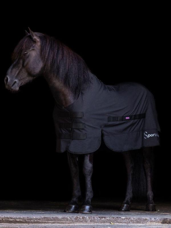 Pferd trägt Outdoordecke in Größe 125