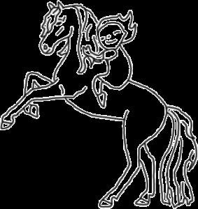 Illustration Pferde Liebe